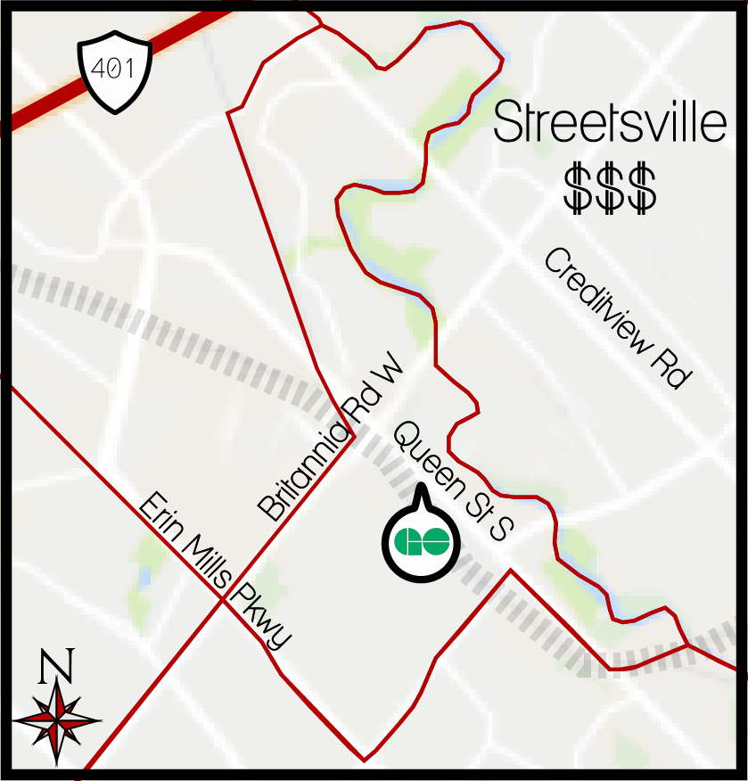 Streetsville MLS Map